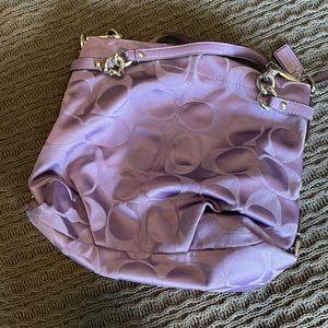 Purple Fabric Coach Bag